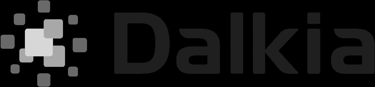 Dalkia logo noir et blanc